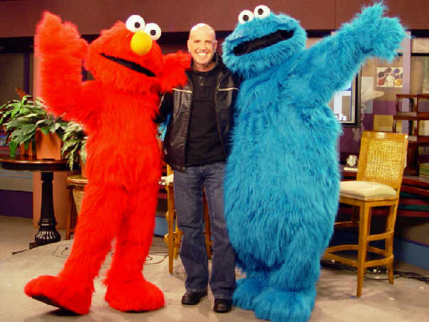 Behind the scenes of an interview with Sesame Street Live